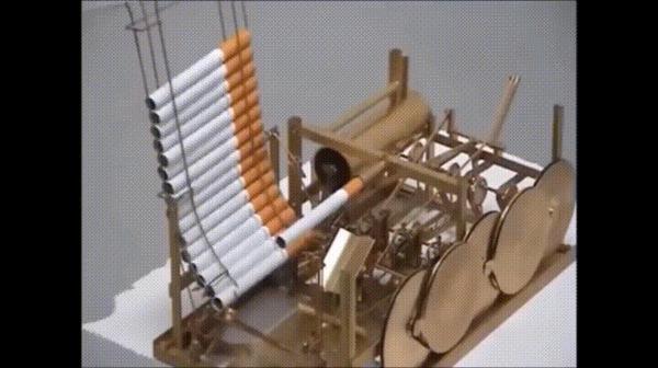 Машина-курильщик сигареты, машина, курение, изобретения, гифка