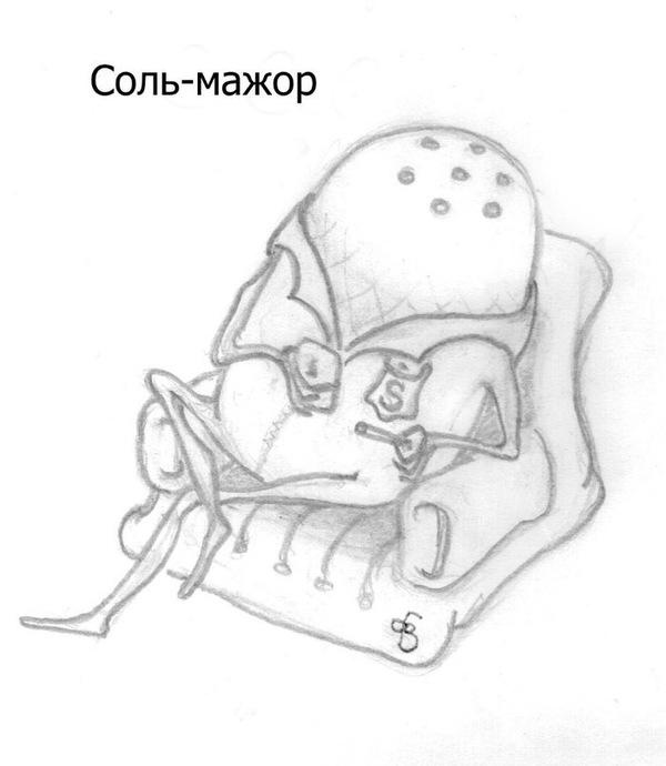 Мажорный аккорд рисунок карандашом, рисунок, юмор, игра слов