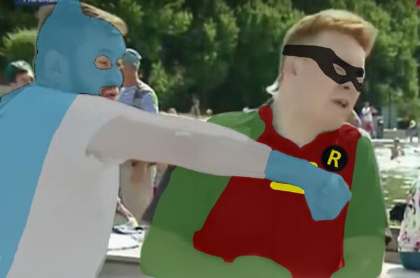 Новое видение :) Batman, расплескалась синева