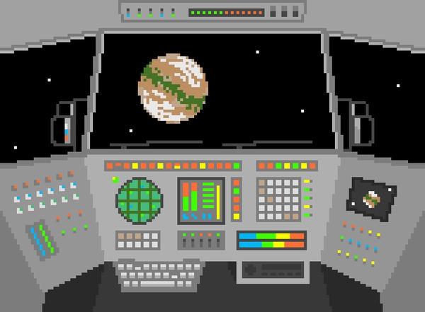 Дальнобойщик Космос, Pixel art, Космические рейнджеры, Космический корабль, Гифка, Coub
