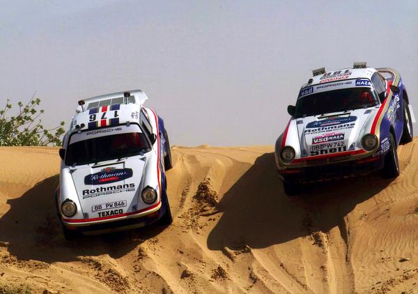 "Porsche 959 ""Paris-Dakar"" (1985) и Porsche 911 SC RS Rally Car (1984)"