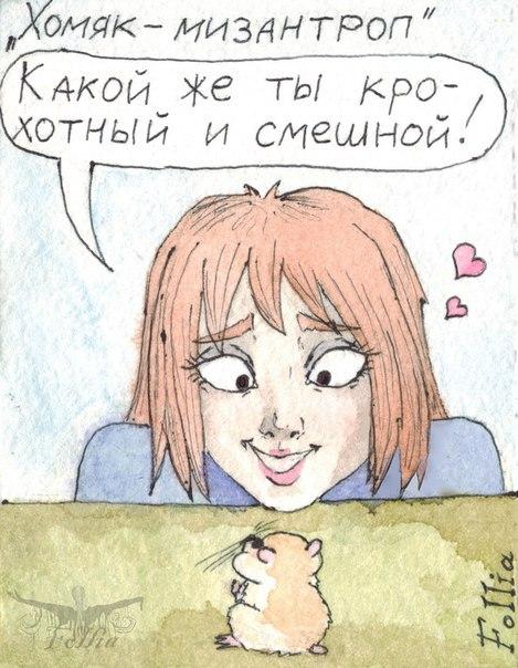 Хомяк-мизантроп Follia, Комиксы, мини-комикс, длиннопост