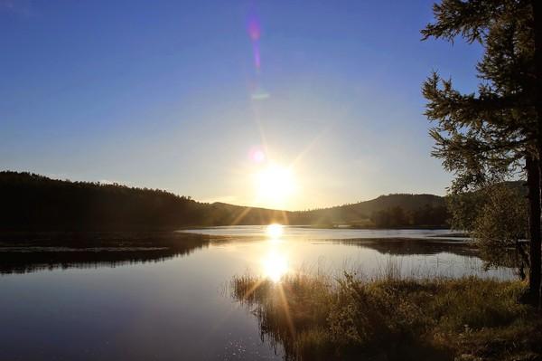 Оленье озеро. Фотография, Озеро, Закат