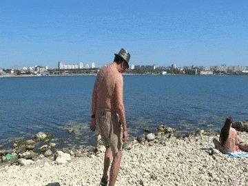 Омега 2017 пикап, пикап-мастер, пляж, гифка