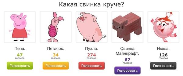 Какая свинка круче? Я за Майнкрафт!