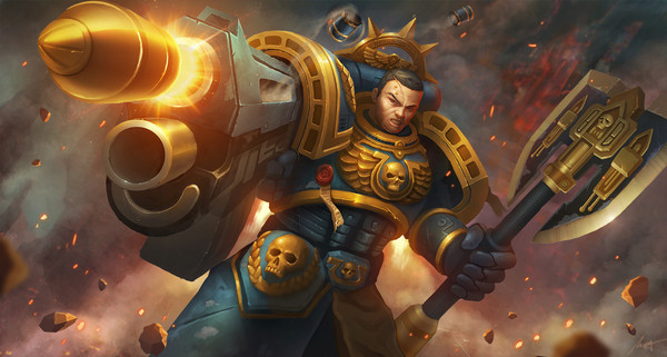Space Marines Warhammer 40k, wha art, фан-арт, космодесант