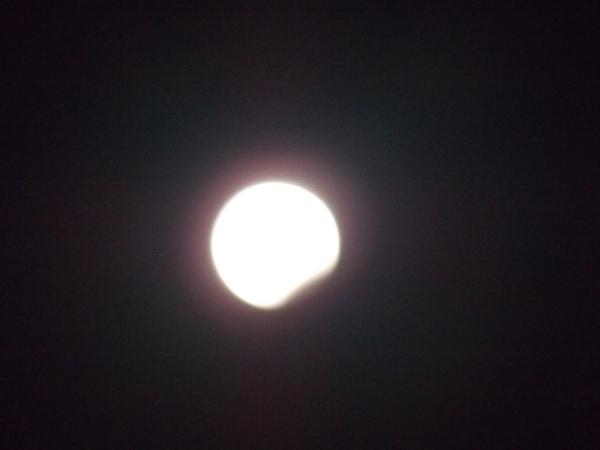 Лунное затмение из жизни, астрономия, лунное затмение