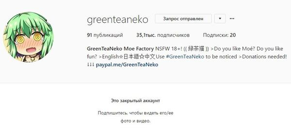 GreenTeaClone Осторожно мошенники!, клоны, GreenTeaNeko, instagram