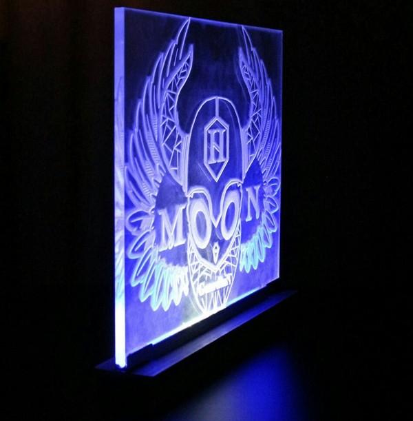 Технологичный и минималистичный ночник. ручная работа, светильник, ночник, логотип, электроника, рукоделие без процесса