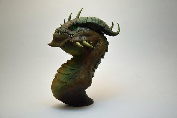 Оскверненный дракон (World of Warcraft) World of Warcraft, ручная работа, дракон, Скверна, полимерная глина, wow, длиннопост