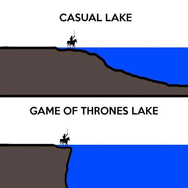Типичное озеро VS озеро Игры престолов