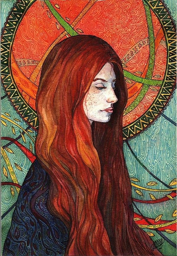 Мой персонаж из личной вселенной, Алиса Мэргод. авторское, выдуманная вселенная, оонэ-мэй, персонаж, арт, иллюстрации, графика, акварель