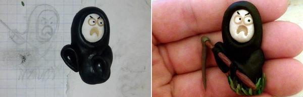 Косарь Мишаня (магнитик на холодильник) косари, магнитики, cynicmansion, поделки, полимерная глина
