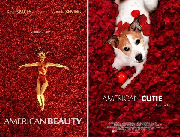 Парень делает постеры к фильмам из фотографий своей собаки Собака, Photoshop, постер, Фильмы, фотожаба, длиннопост