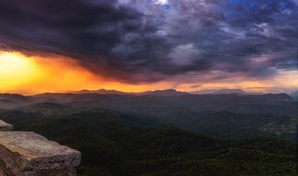 Закат в августе, после дождя. Сочи, горы, Россия, кавказские горы, лето, природа кавказа, Природа