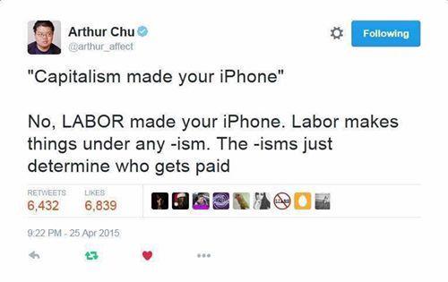Чу дело говорит Труд, Iphone, Капитализм, Строй, Twitter