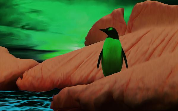 Пингвин рисунок, цифровой рисунок, пингвины