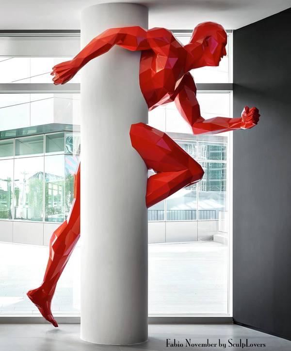 Фабио Новембер скульптура, застрял в текстурах, Современное искусство