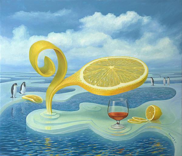 Лимон на льдине моё, Живопись, арт, Интересное, красота, Искусство, рукоделие без процесса, лимон