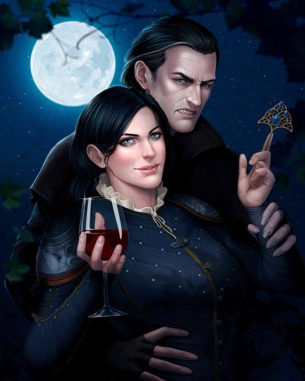 Сианна и Детлафф Ведьмак, Кровь и вино, арт