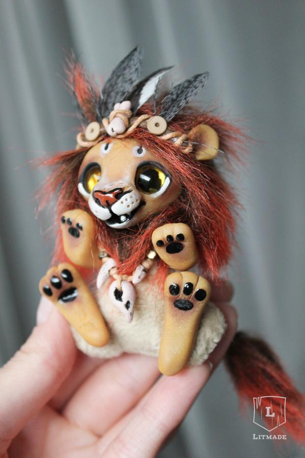 Привет бледнолицые! ^.^ Лев, кукла, ручная работа, полимерная глина, Litmade, длиннопост