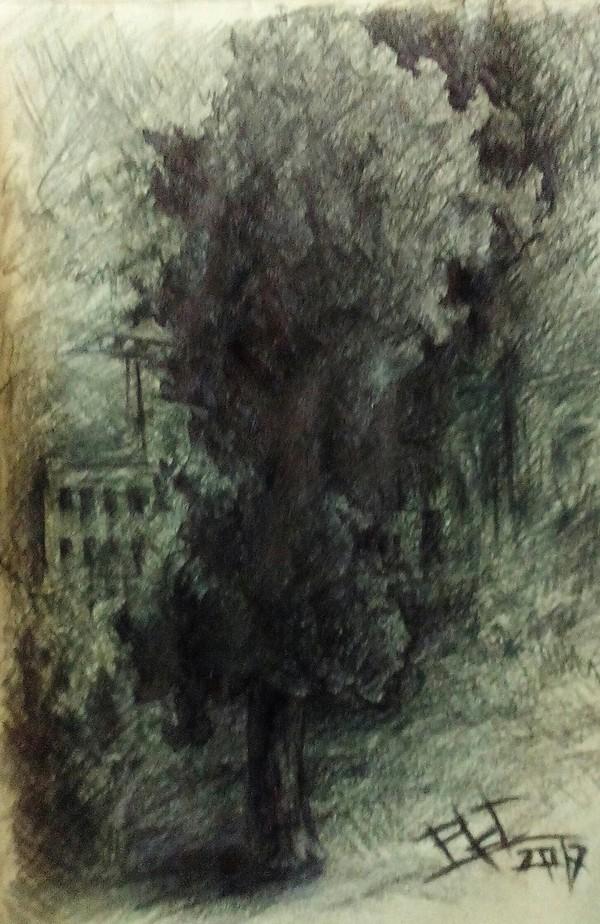 Впечатления. рисунок карандашом, импрессионизм, графика, Гомель, длиннопост