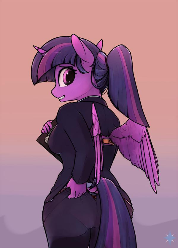 Либо хвост, либо штаны. Выбирай. my little pony, Twilight Sparkle, антро