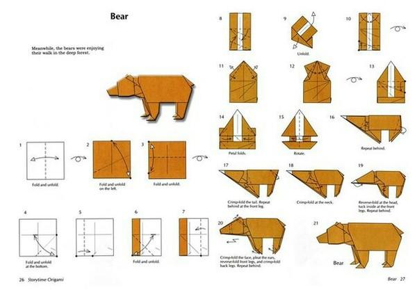 Оригами оригами, медведь