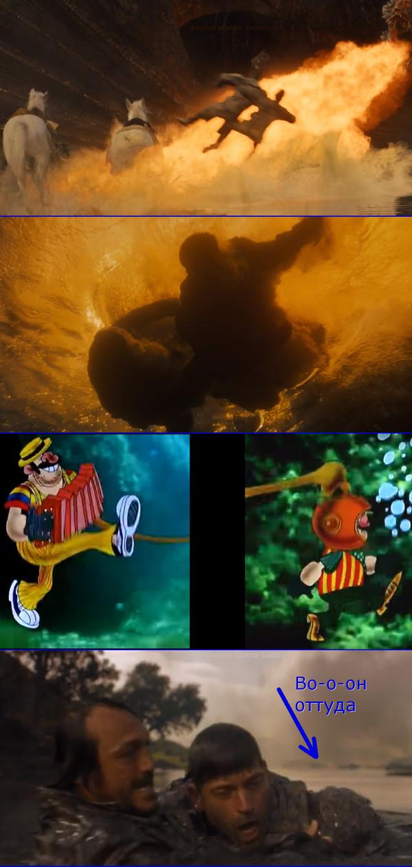 Сир Брон Подводный Спойлер, Игра престолов 7 сезон, Бронн, Под водой, Длиннопост