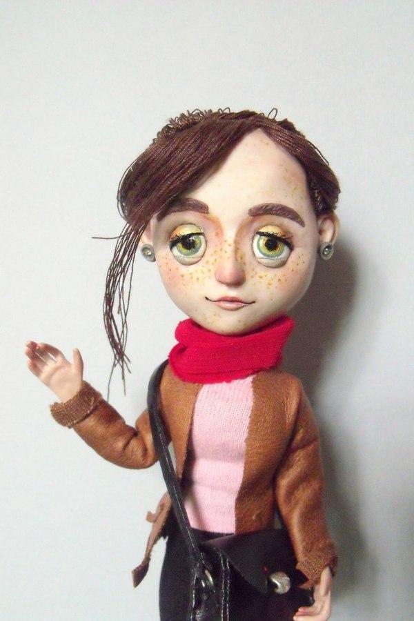 Кукольная Лиза полимерная глина, Кукла, акрил, лепка, рукоделие с процессом, игрушки, ручная работа, длиннопост