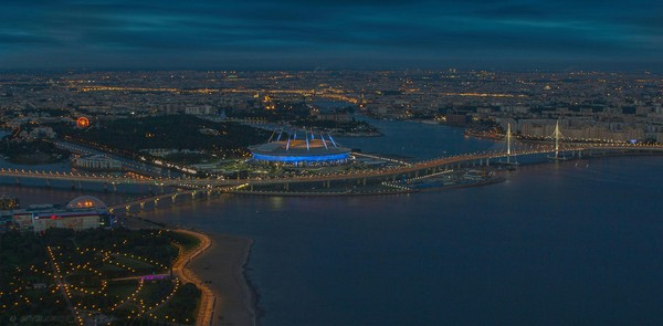 Панорама Петербурга с последнего этажа Лахта Центра новостройка, Лахта-центр, на ночь, Санкт-Петербург, фотонемое, длиннопост, часть 1