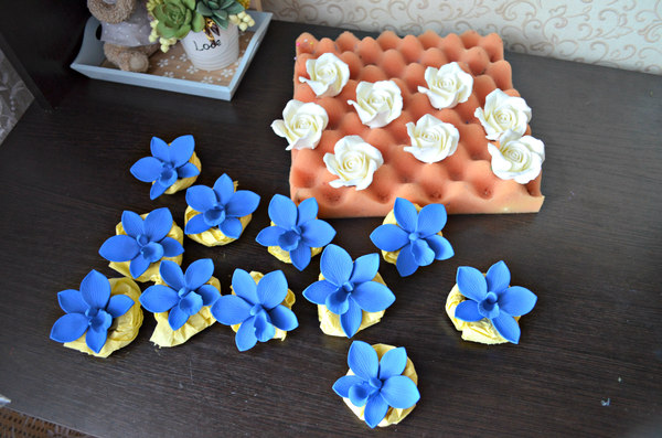 Букет невесты с цветами из полимерной глины полимерная глина, ручная работа, длиннопост