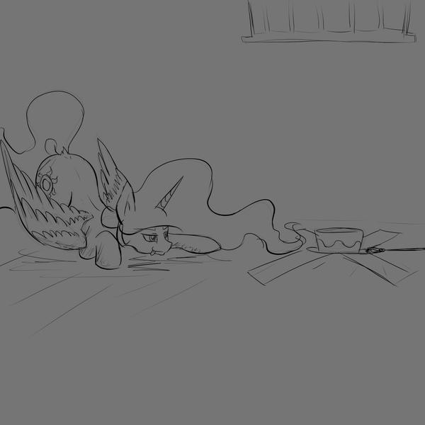 Почтикомикс 2 и немного скетча my little pony, Princess Celestia, rarity, nightmare moon, RuanShi, длиннопост