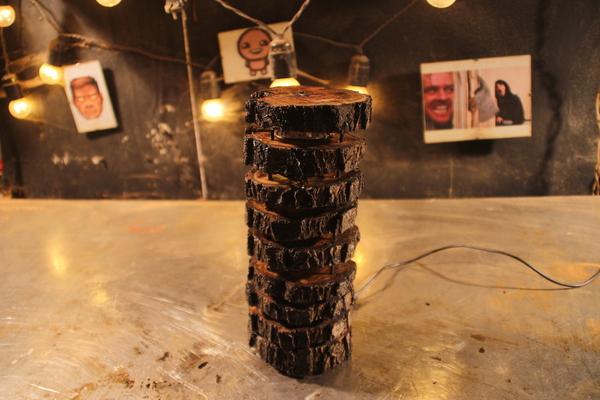 Светильник из пенька светильник, своими руками, как сделать светильник, рукоделие с процессом, видео, длиннопост