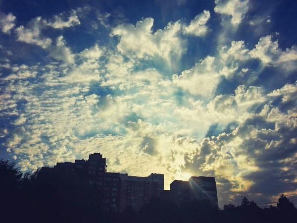 Облачный закат) Битва закатов, вечерние прогулки, облака, это мой первый пост, Краснодар