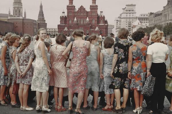 Девушки на Красной Площади, Москва, 1981
