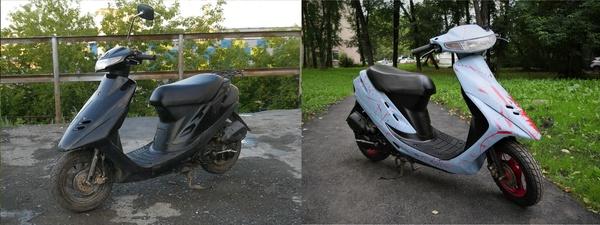 Как я мопед Honda DIO AF28 восстанавливал Часть2 мопед, скутер, Мото, ремонт авто, ремонт мото, своими руками, видео, длиннопост