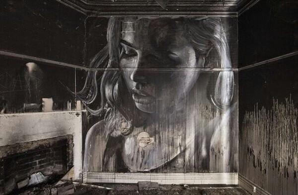 Граффити в заброшенном доме