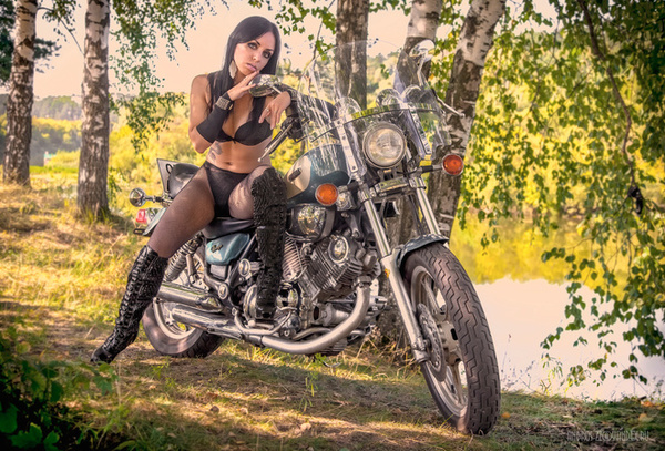 Сквозь берёзу Копипаста, девушки и мотоцикл, детство 90-х, трюк, провал