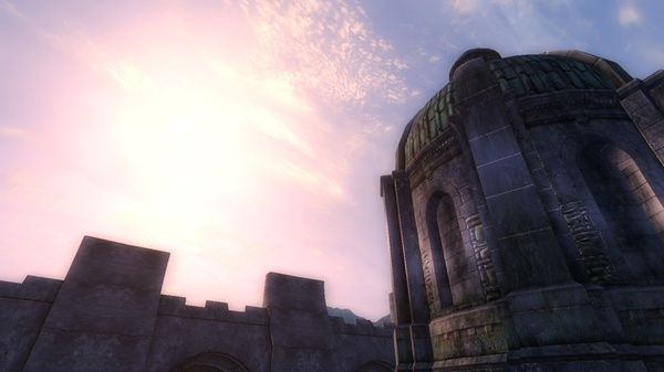 Tamriel, beautiful emerald roofs of the imperial city, Empire's beauty without mods, O_O. Imperial city, Oblivion, TES IV Oblivion, skyrim, The Elder Scrolls, tamriel, Empire heart, Roofs of gods, длиннопост