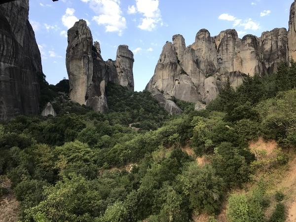 Когда действительно шикарный вид из окна монастыри метеоры, кастараки, Моягреция2017
