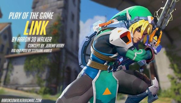 Если бы Линк был персонажем Overwatch. The Legend of Zelda, overwatch, Aaron Walker, концепт-арт, 3D концепт