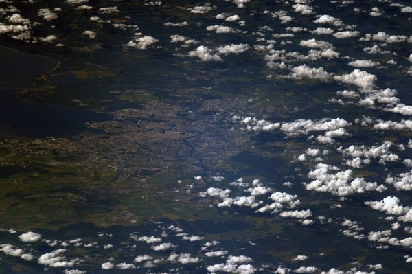 Санкт-Петербург из космоса Санкт-Петербург, космос, фотография