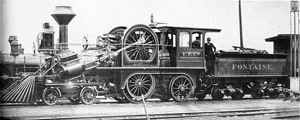 Паровоз Фонтейна, или Еще немного о странных паровозах история, ретро, паровоз, техника