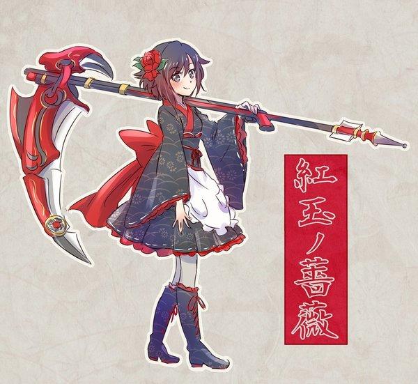 Японский стиль. RWBY, Ruby Rose, Weiss Schnee, аниме, не аниме