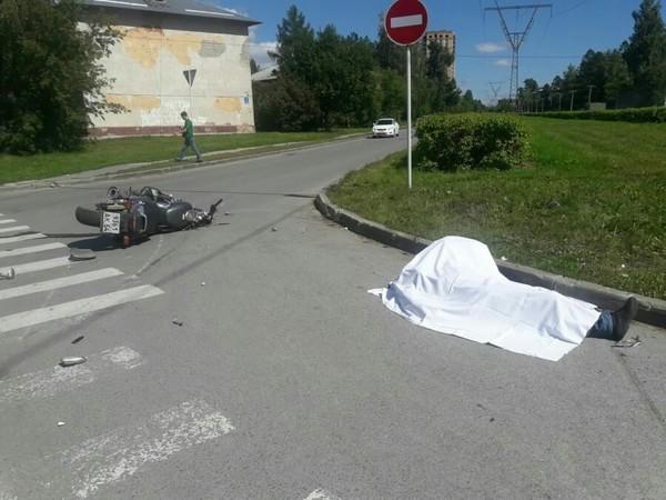 В Новосибирске разбился мотоциклист! новосибирск, авария, летальный исход