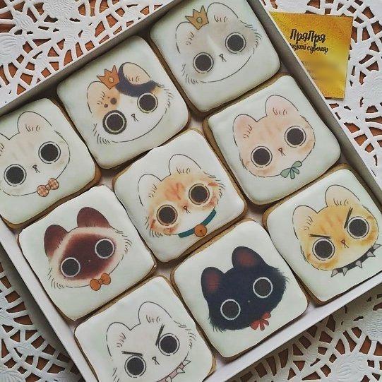 Печенье с котиками Длиннопост, Кот, Печенье
