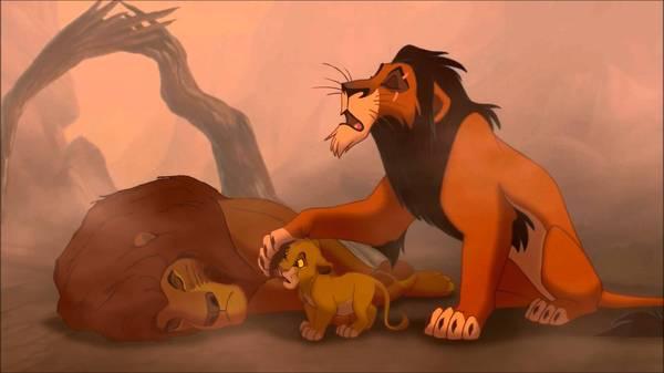 Муфаса и Шрам не были братьями Король Лев, мультфильм, Дисней, шрам, правда