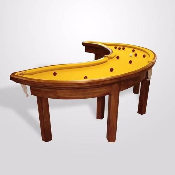 Бильярдный стол в виде банана Бильярд, стол, бильярдный стол, банан, длиннопост
