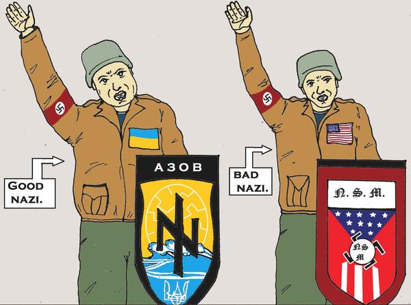 В зависимости от расстояния к границе России. Украина, Россия, США, политика, карикатура, юмор